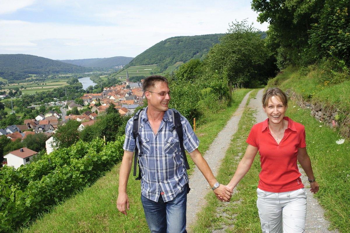 Auf dem Fränkischen Rotweinwanderweg