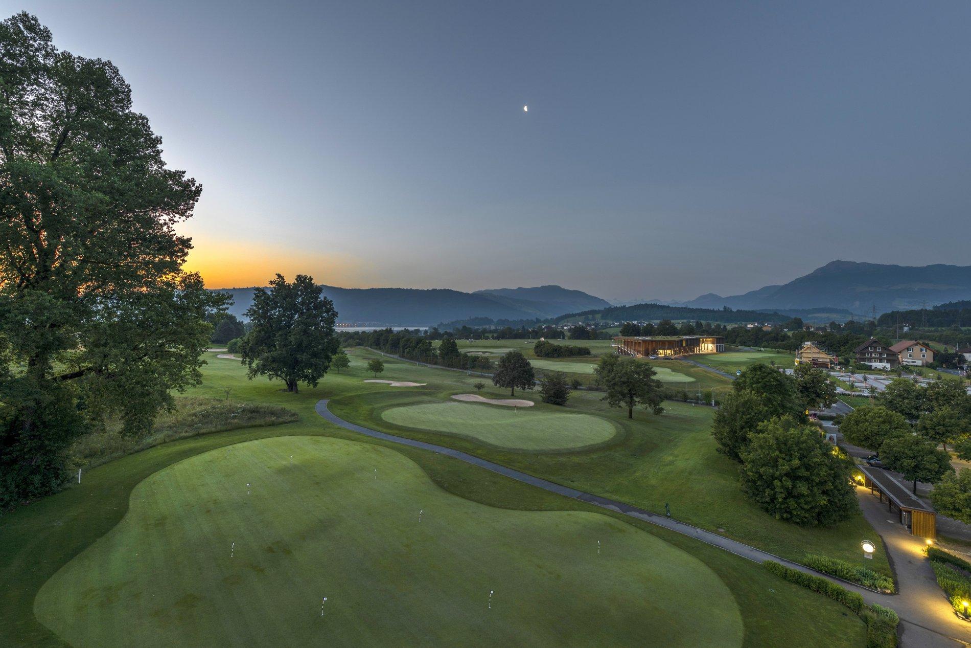 Sonnenuntergang Golfpark Holzhäusern