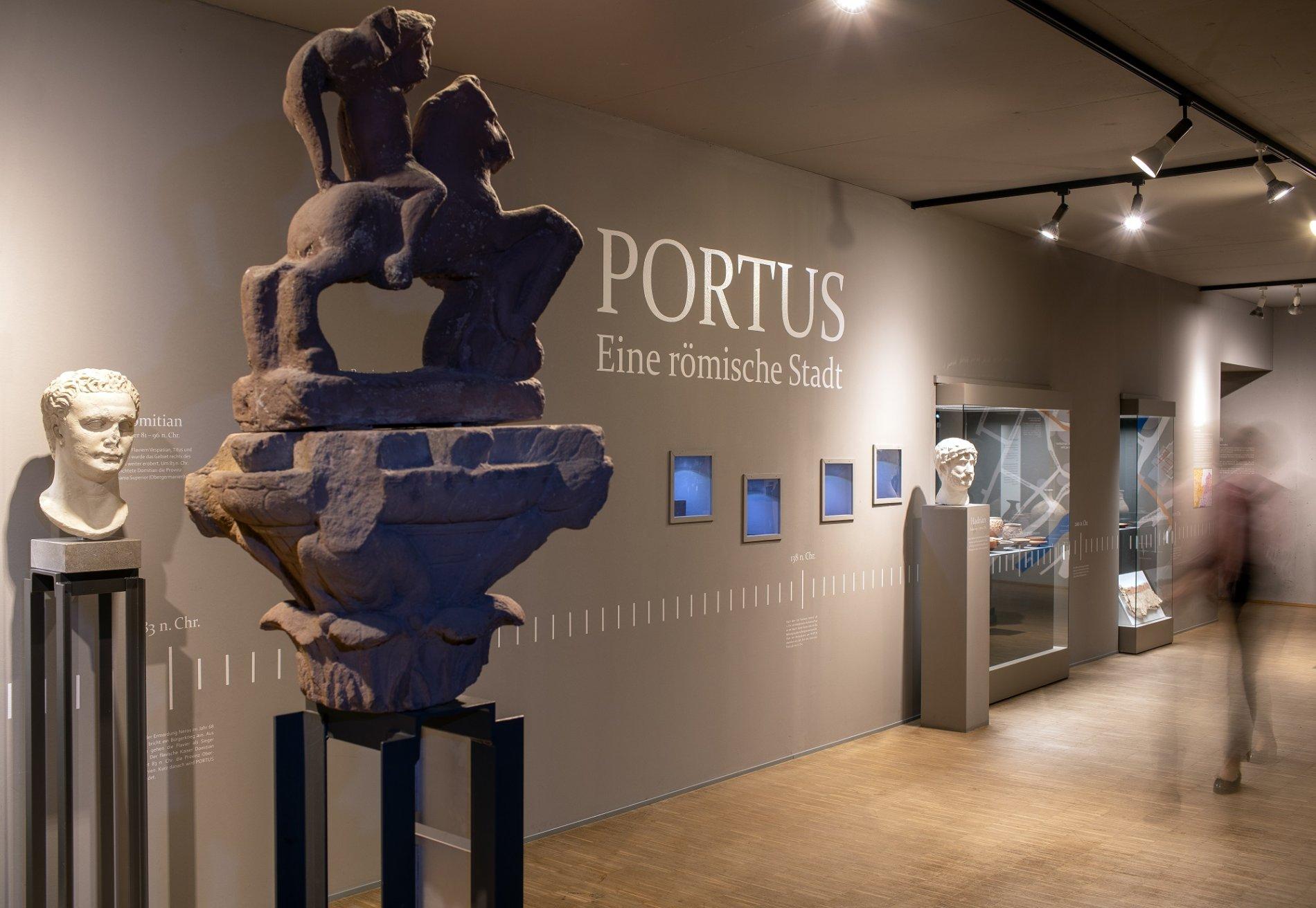Im Innenraum des Archäologischen Museums