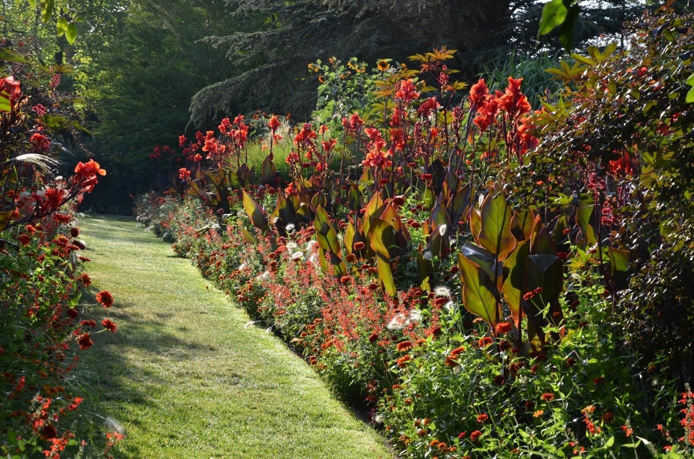 Blütenpracht im Sichtungsgarten in den Weihenstephaner Gärten in Freising