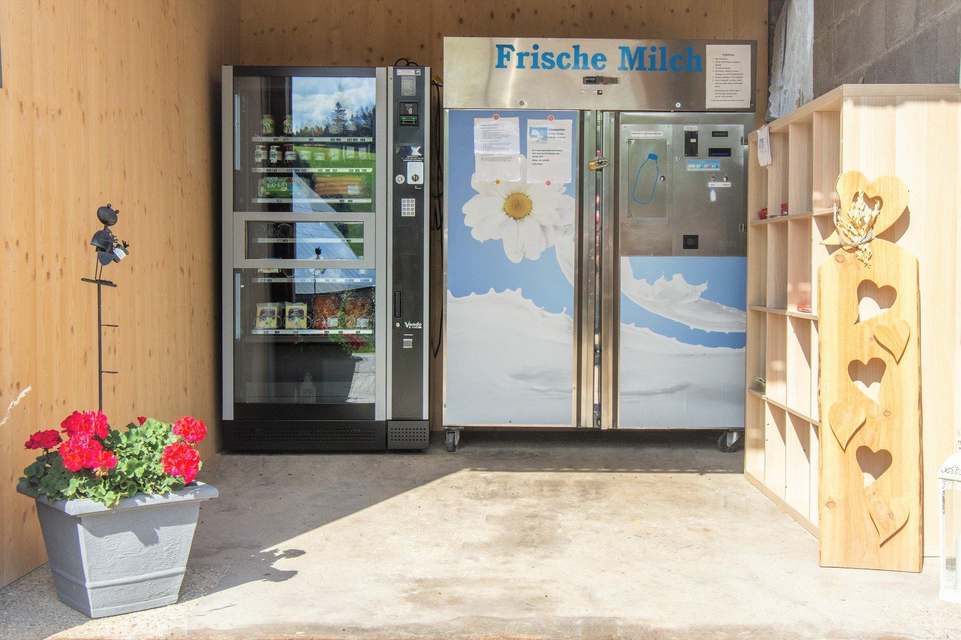 Kienzlerfranzenhof Schönwald Milchautomat