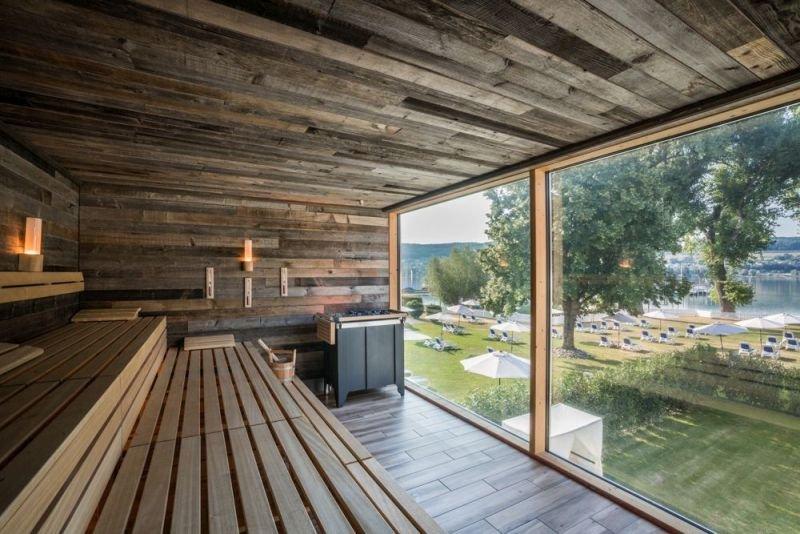 Panorama Sauna im SEE SPA am Bodensee