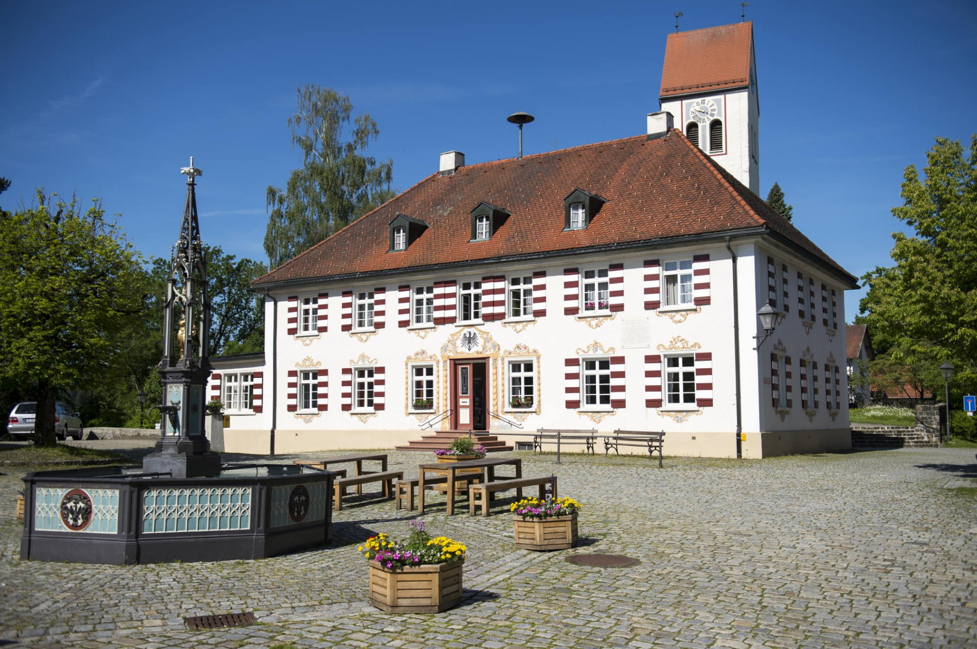 Rathaus am Dorfplatz Eglofs, Argenbühl