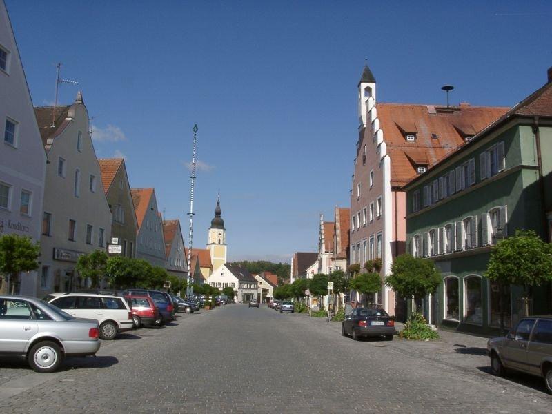 Blick in den Ort von Langquaid