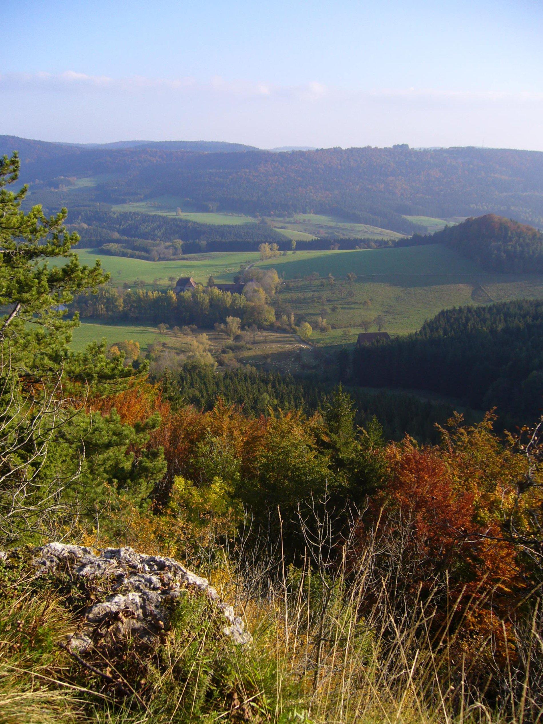 Blick vom Wenzelstein auf die Albhochfläche