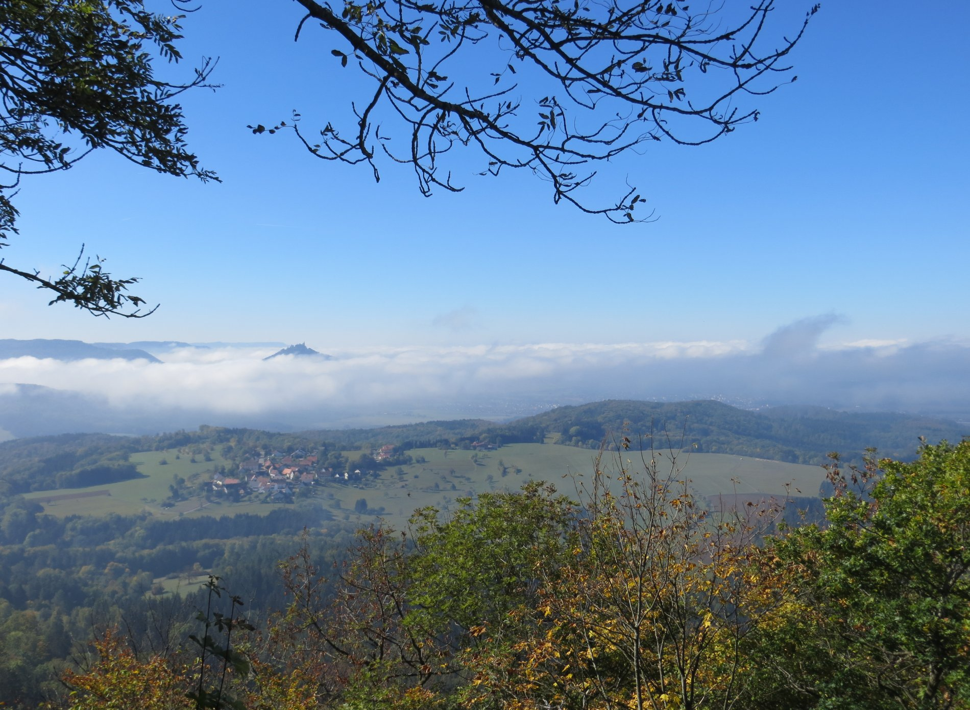 Blick vom Dreifürstenstein Richtung Hechingen