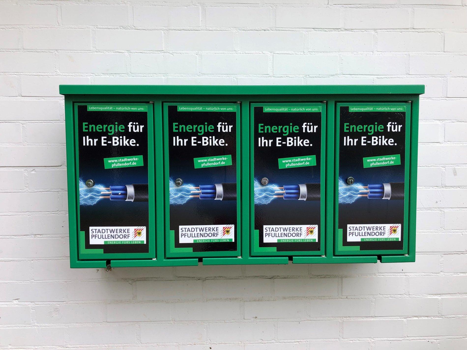 Vier E-Bike Ladestationen am Waldfreibad in Pfullendorf