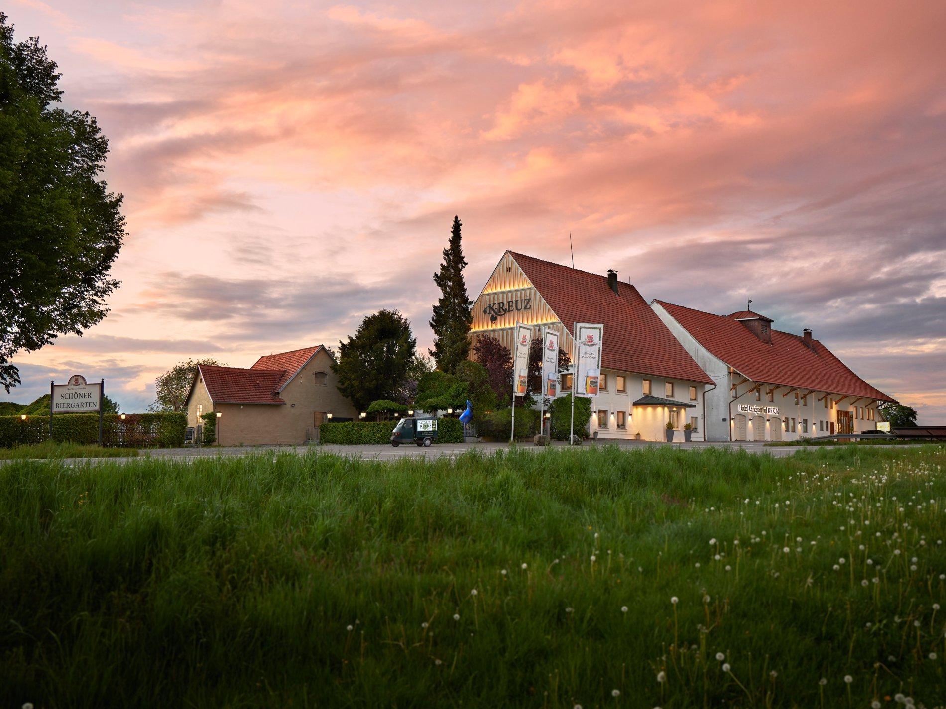 Südansicht des Hotel- Landgasthof KREUZ