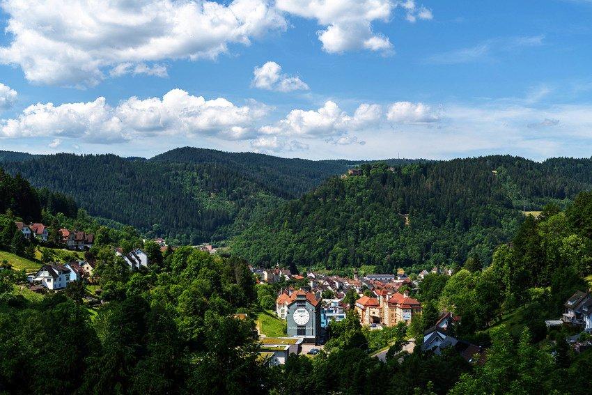 Ausblick auf die Burg Falkenstein