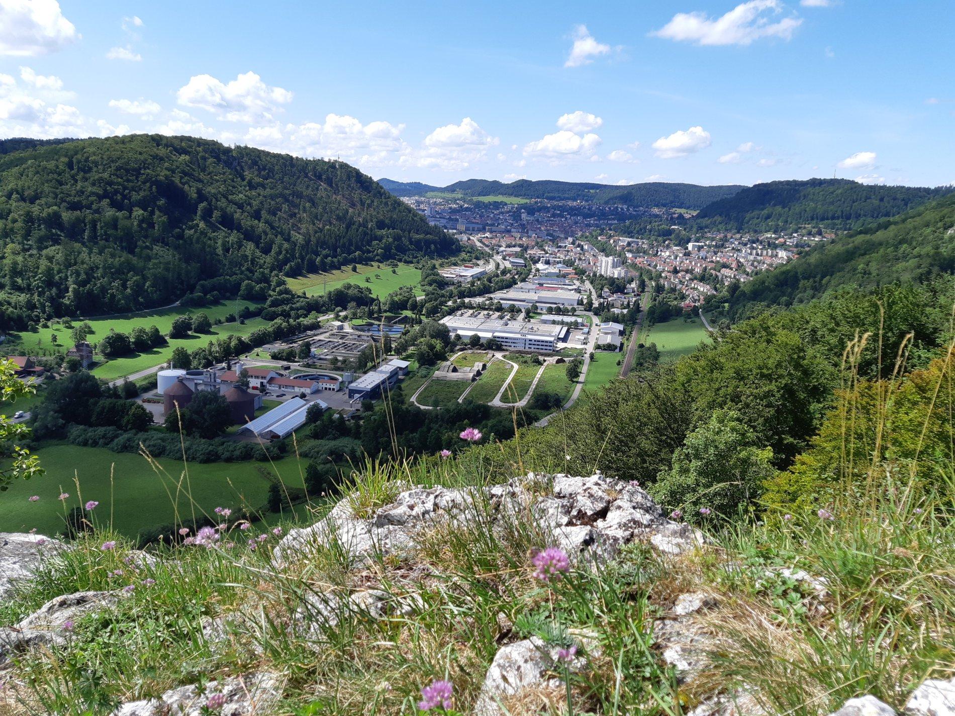 Blick vom Mühlenfels auf Albstadt-Ebingen