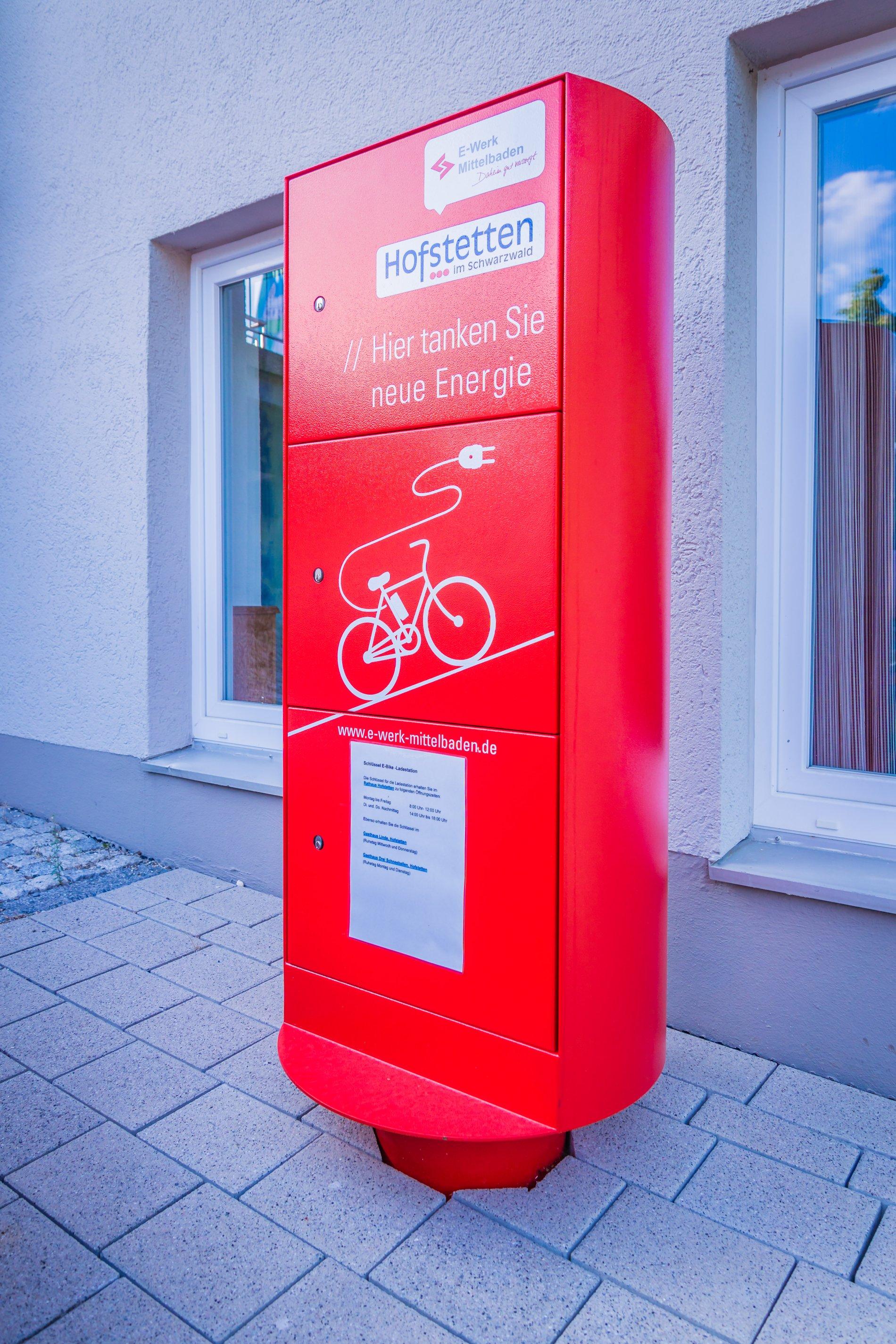 E-Bike Ladestation, rot