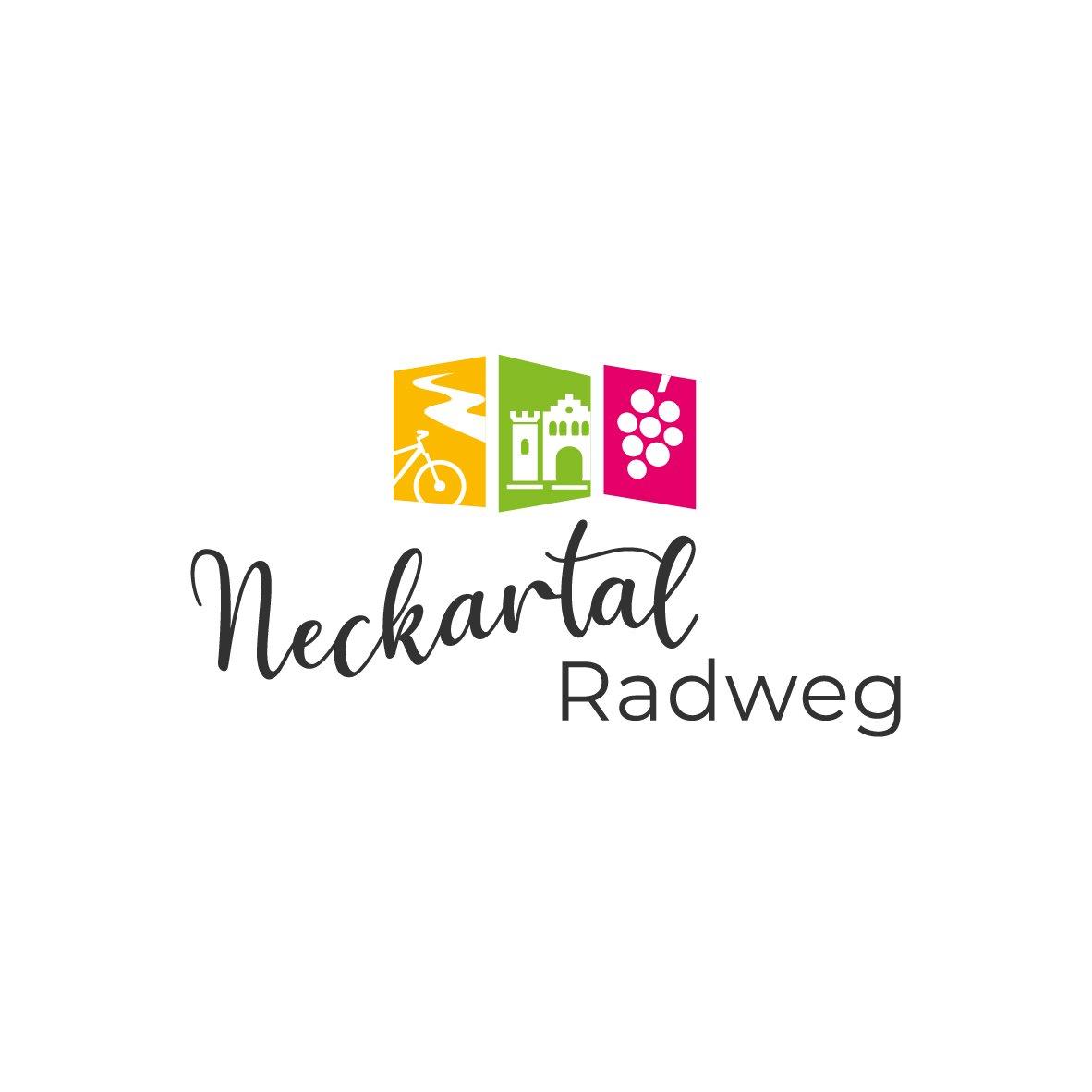 Neckartal-Radweg Logo Beschilderung
