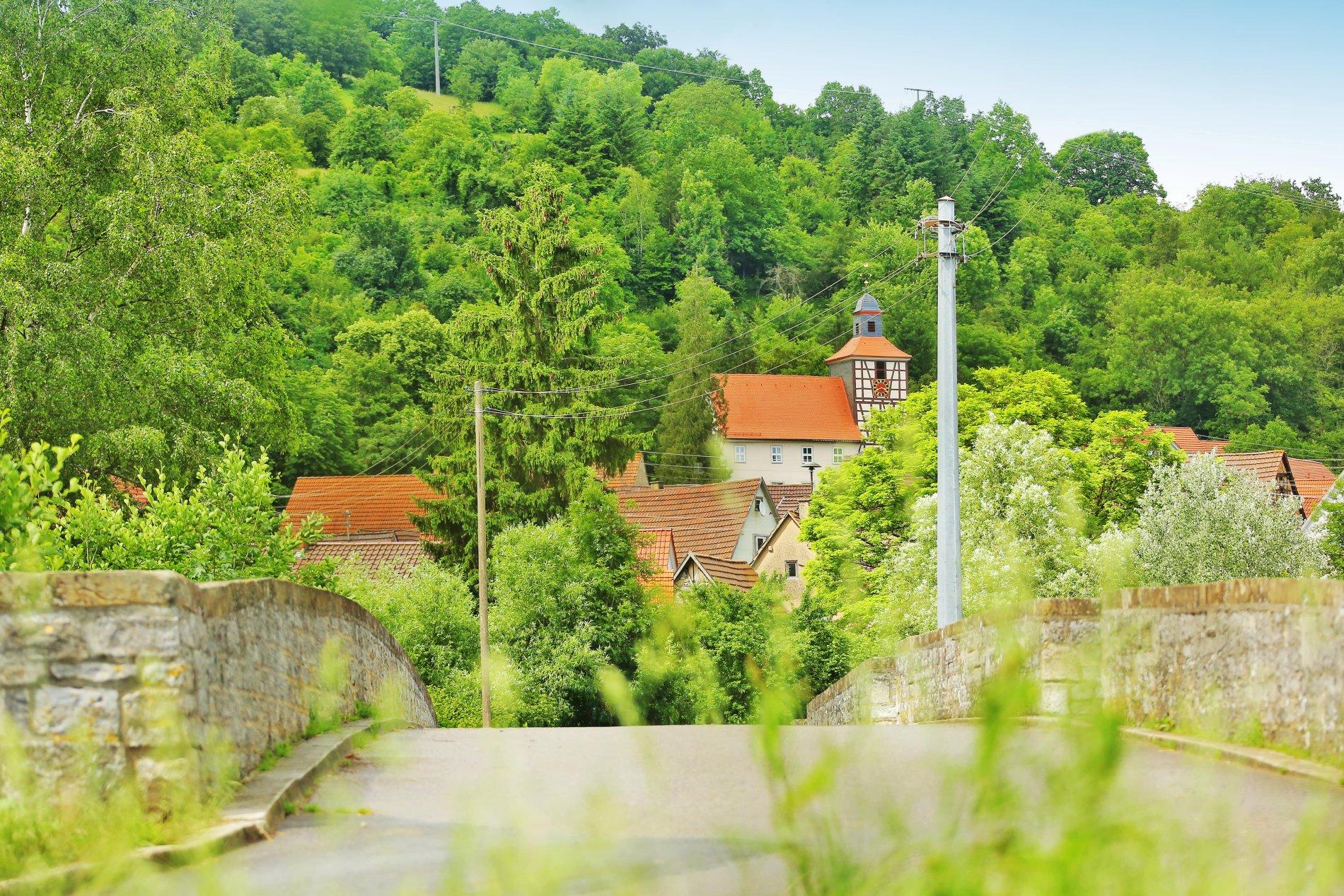 Brücke über die Jagst bei Jagsthausen-Olnhausen | HeilbronnerLand