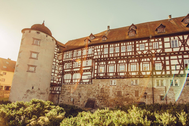 Schloss in Gaildorf am Kocher-Jagst-Radweg