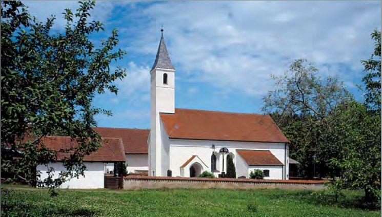 Außenansicht der Filialkirche Enghausen bei Mauern