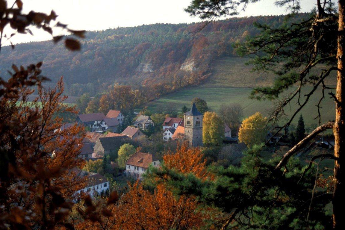 Aussicht Thüringer Drei-Türme-Weg