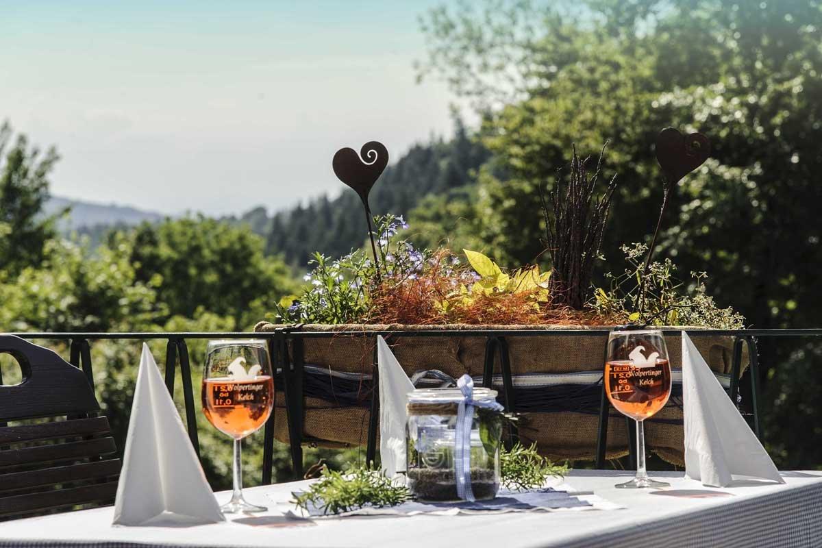 Herrlicher Panoramanlick auf der Terrasse des Restaurants