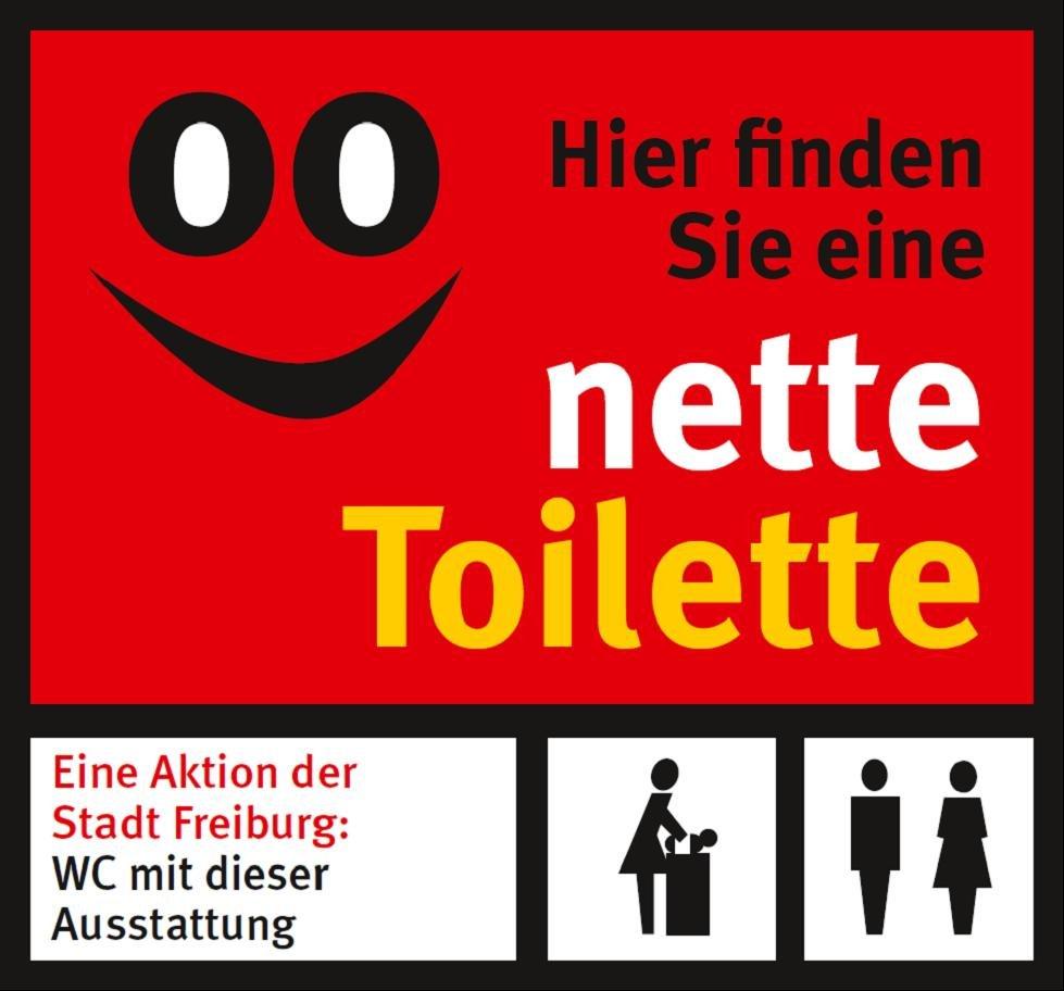 Hinweisschild Nette Toilette