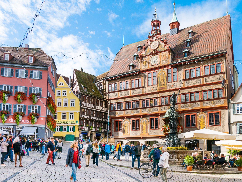 Rathaus Tübingen Balkon