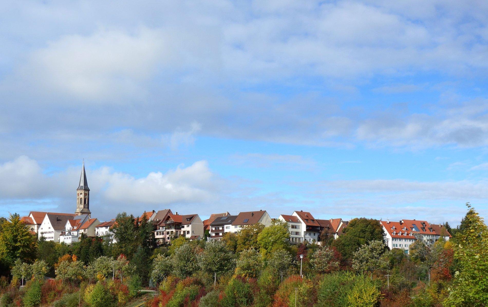 Stadtpanorama von Schömberg