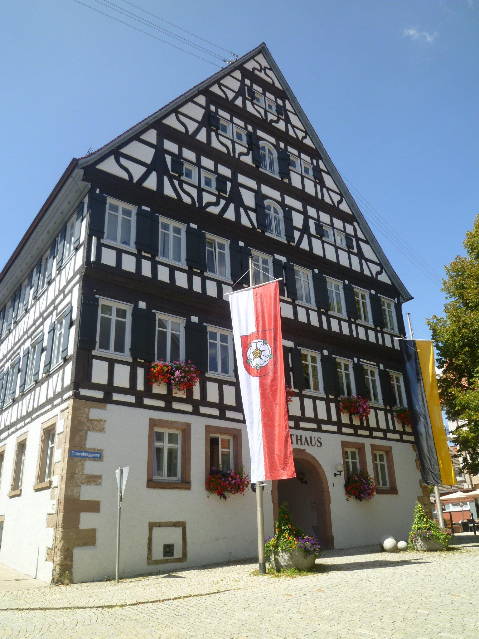 Rathaus in Rosenfeld aus Fachwerk