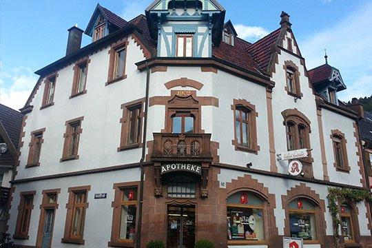 Gebäude von Schloss-Apotheke in Wolfach