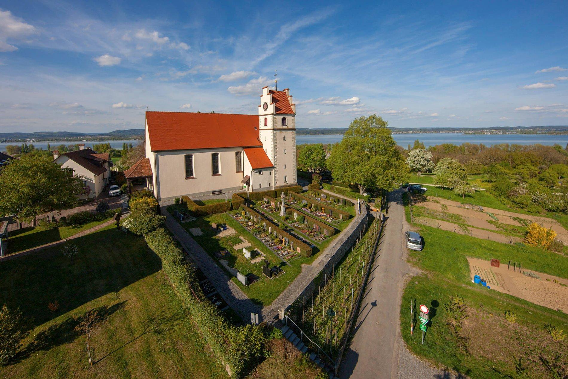 Luftaufnahme Kath. Pfarrkirche St. Johann