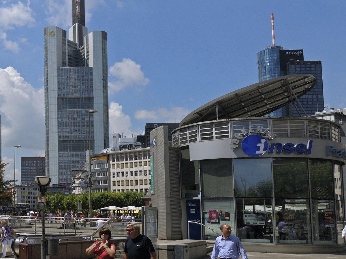 Verkehrsinsel Frankfurt