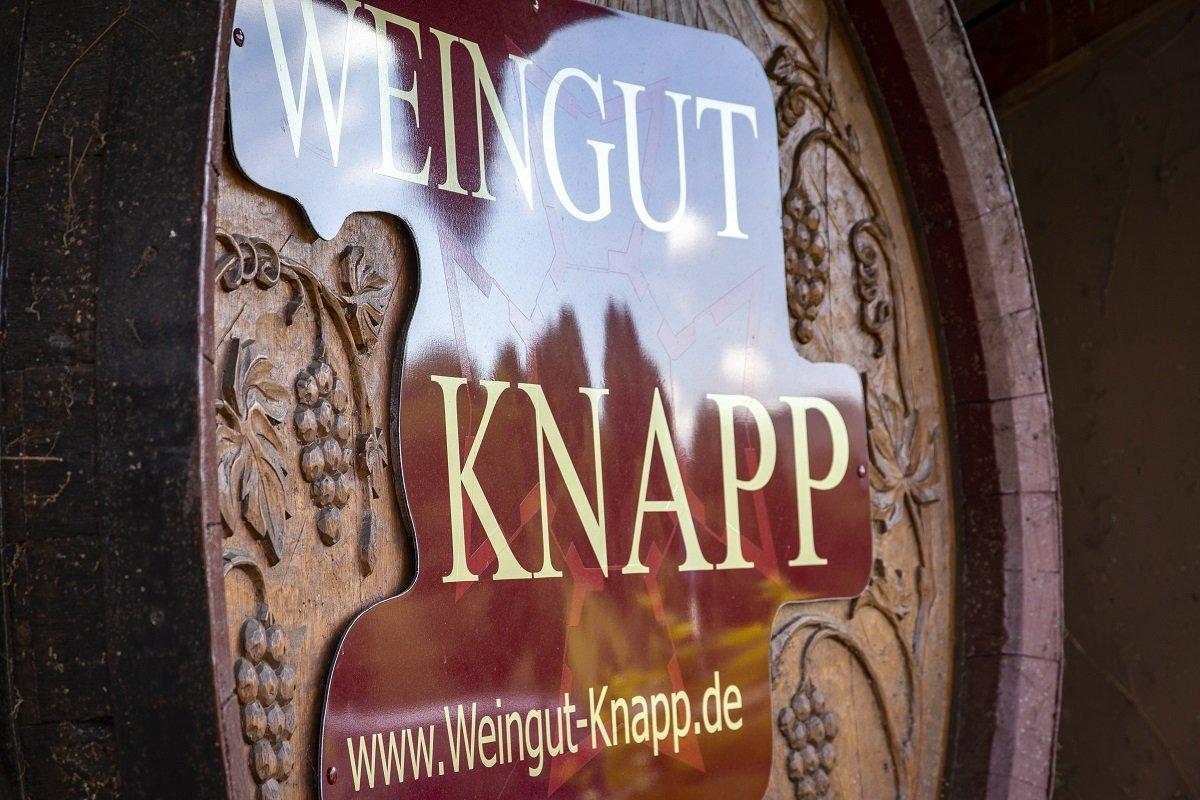 Weinfass des Initiators Weingut Knapp