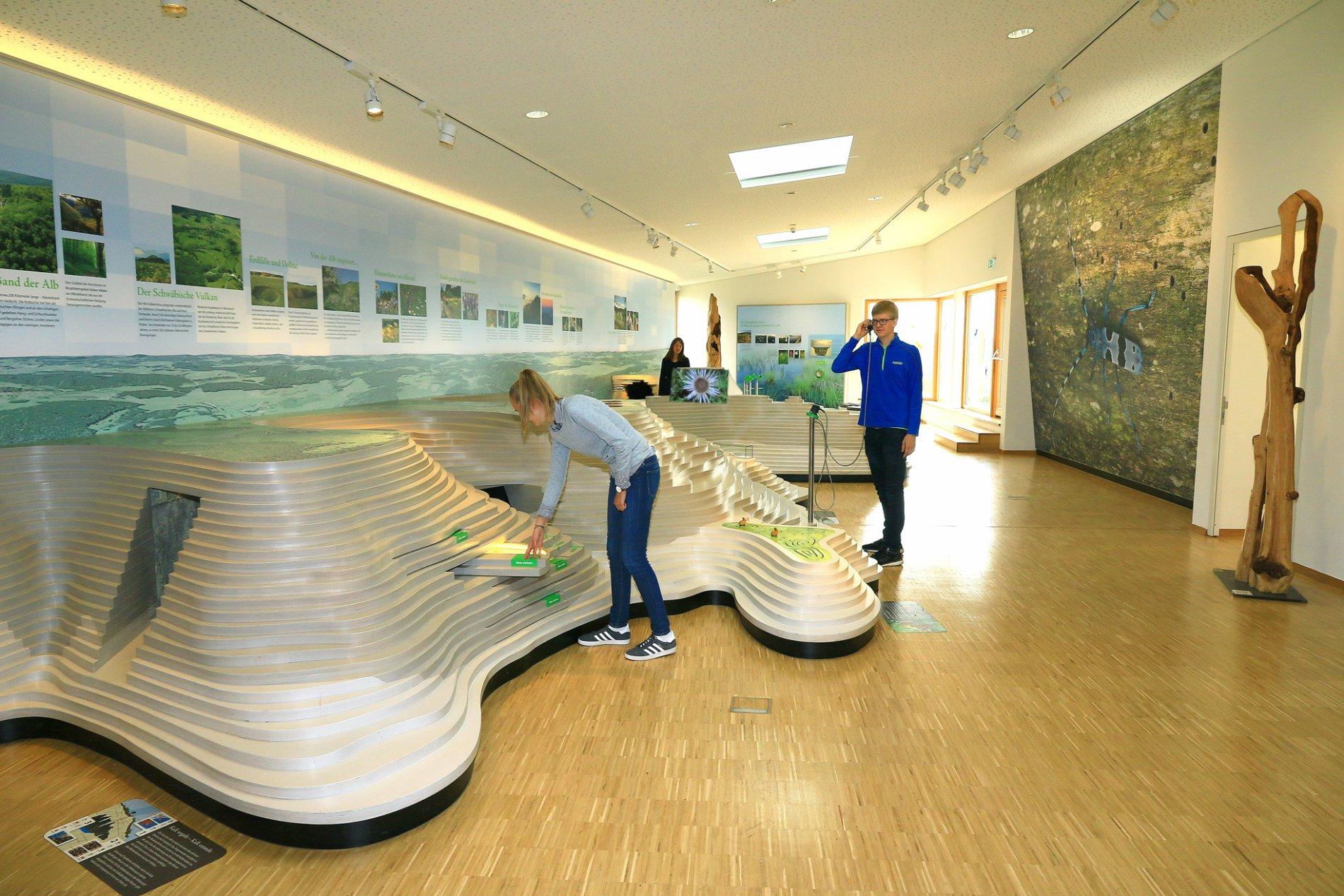 Ausstellungsraum im Naturschutzzentrum Schopflocher Alb
