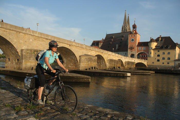 Unterwegs auf dem Radweg München - Regensburg - Prag