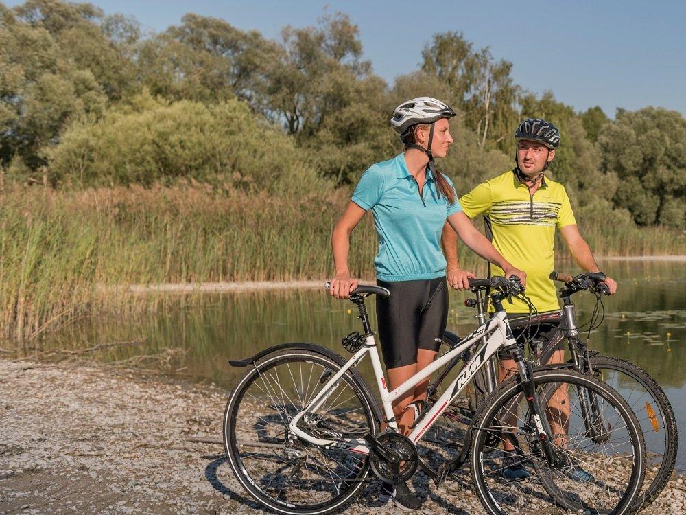 Radfahrer an der Stoibermühle
