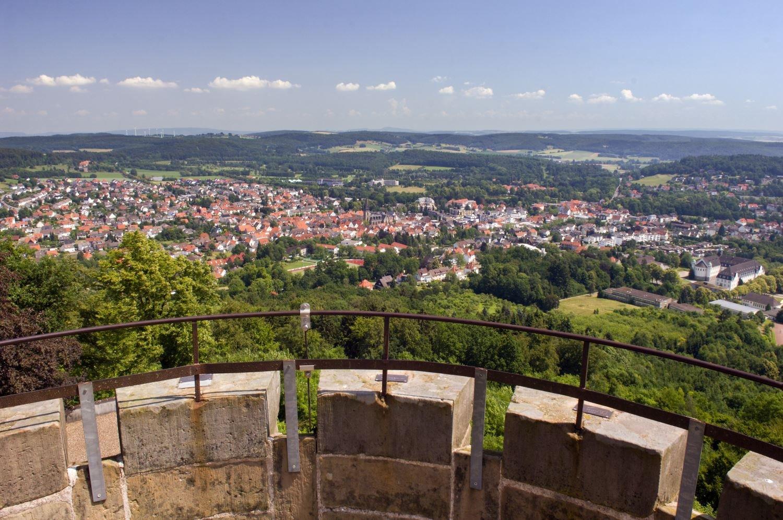 Blick auf Bad Driburg vom Kaiser Karls Turm