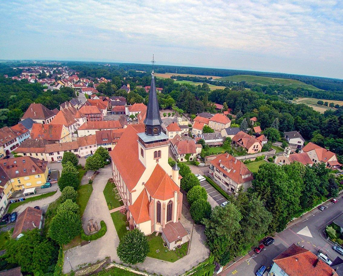 Lauterbourg Stadtanblick von oben