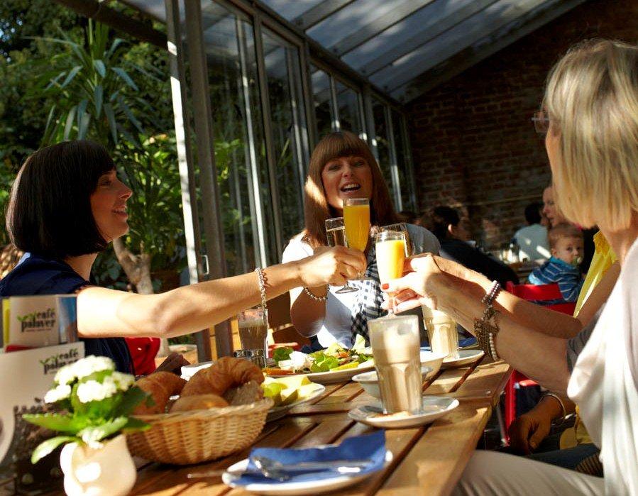 Internationale Speisen im Café Palaver Karlsruhe