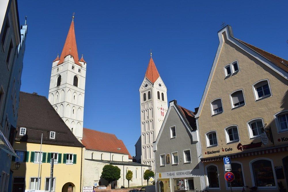 Innenstadt von Moosburg mit St. Kastulus Münster