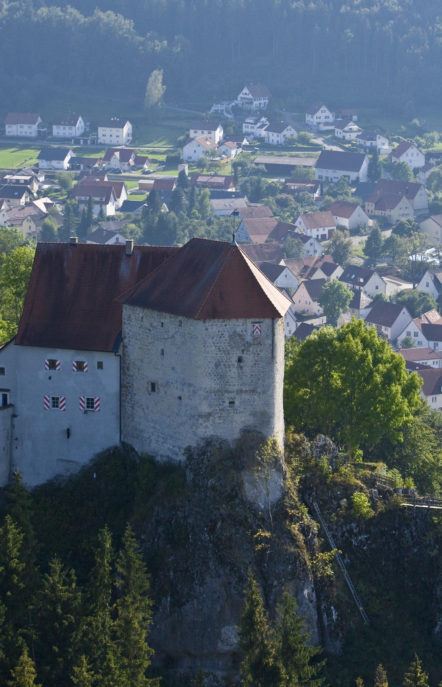 Ruine an der Burg Straßberg