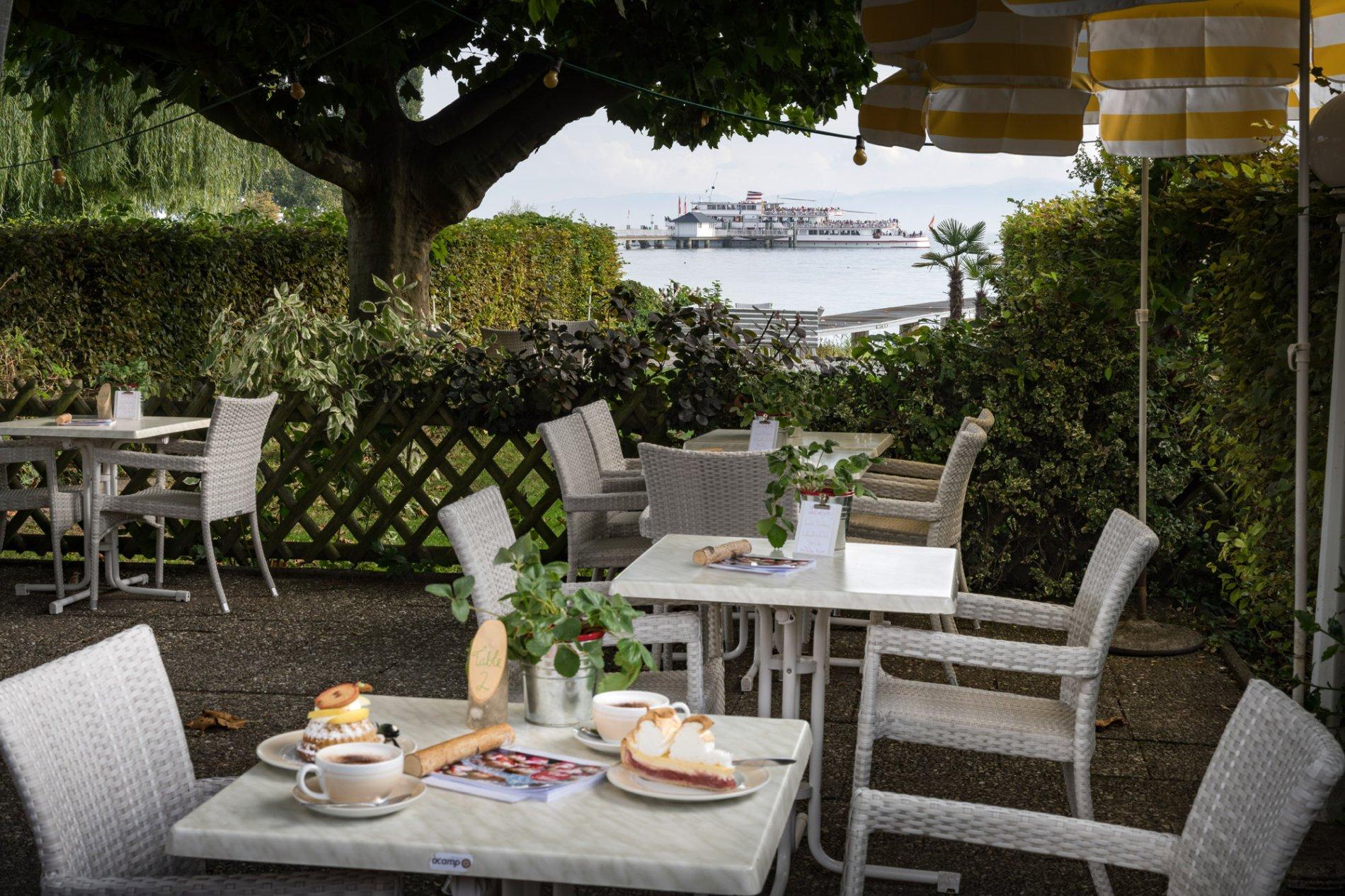 Gartenbereich Cafe Merk