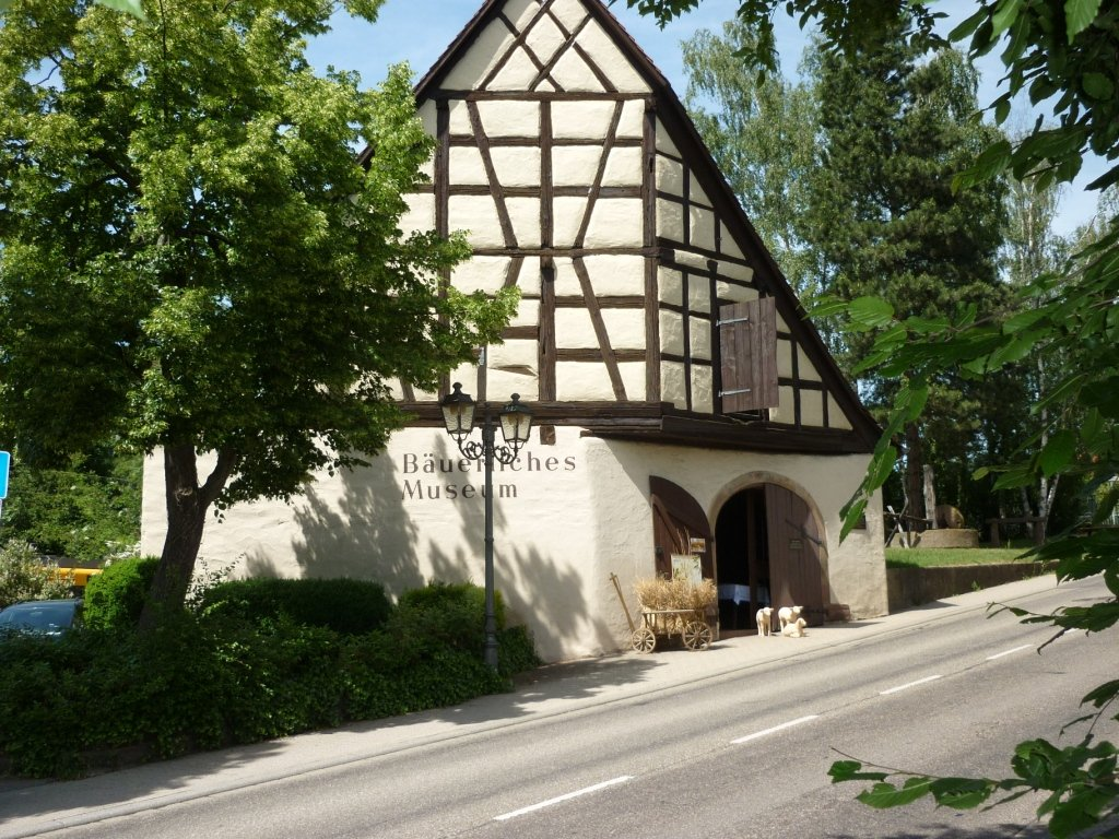The old half-timbered house, which is a former Eutingen sheepfold.