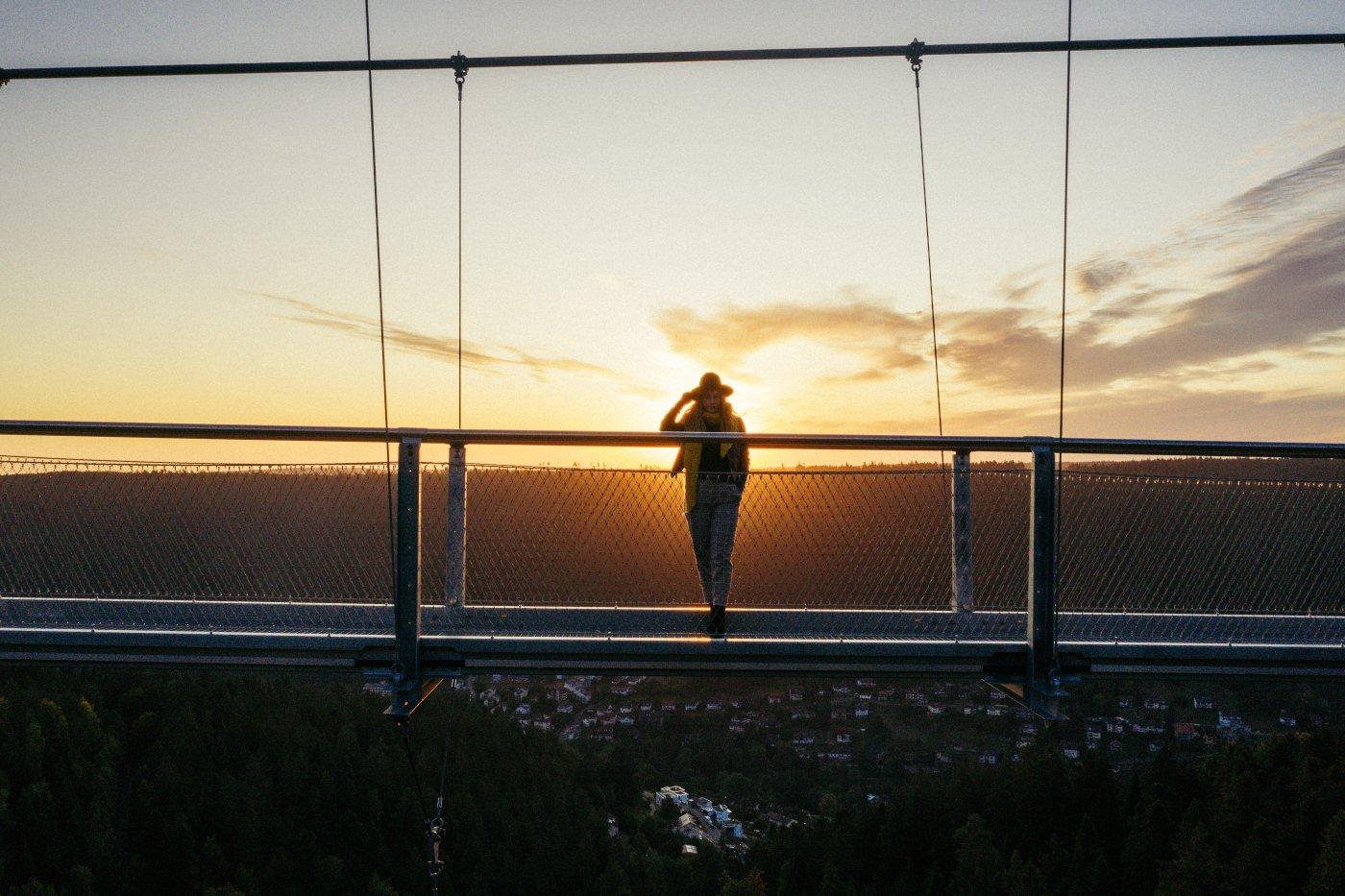Naturerlebnis auf der Hängebrücke WILDLINE Bad Wildbad