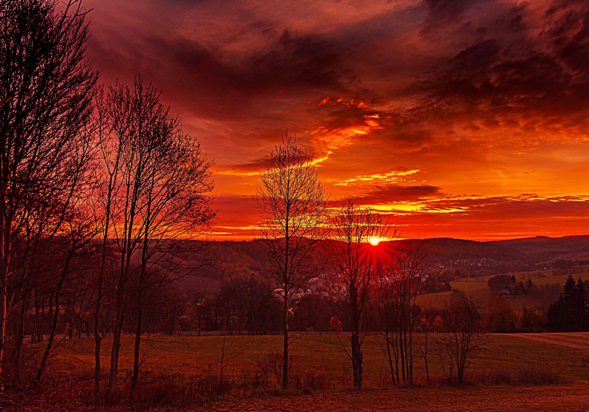 Sonnenaufgang Erzgebirge