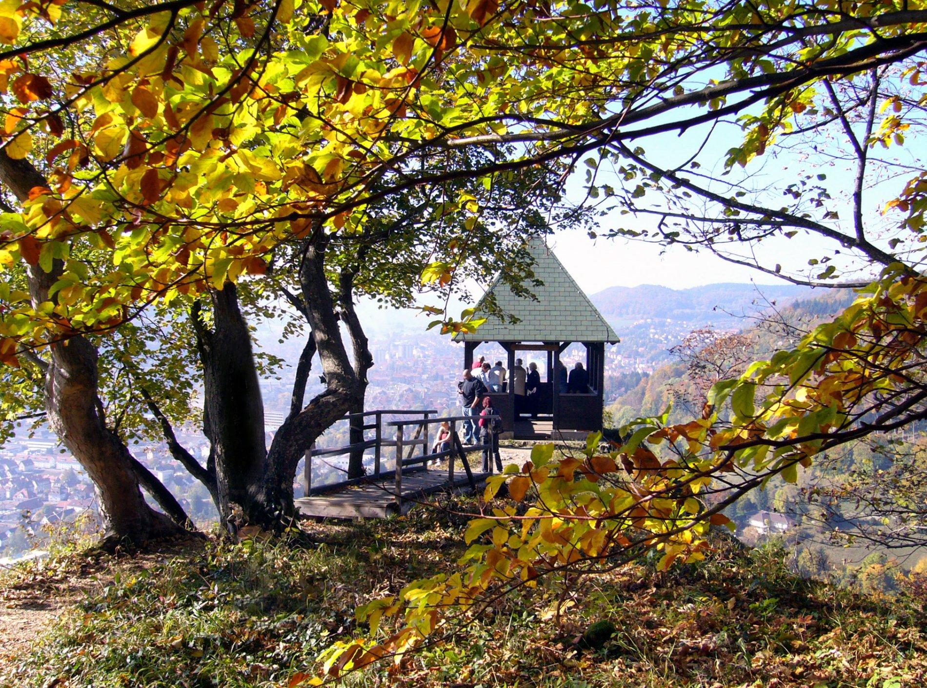 Sensationelle Aussicht von der Schleicherhütte auf Albstadt