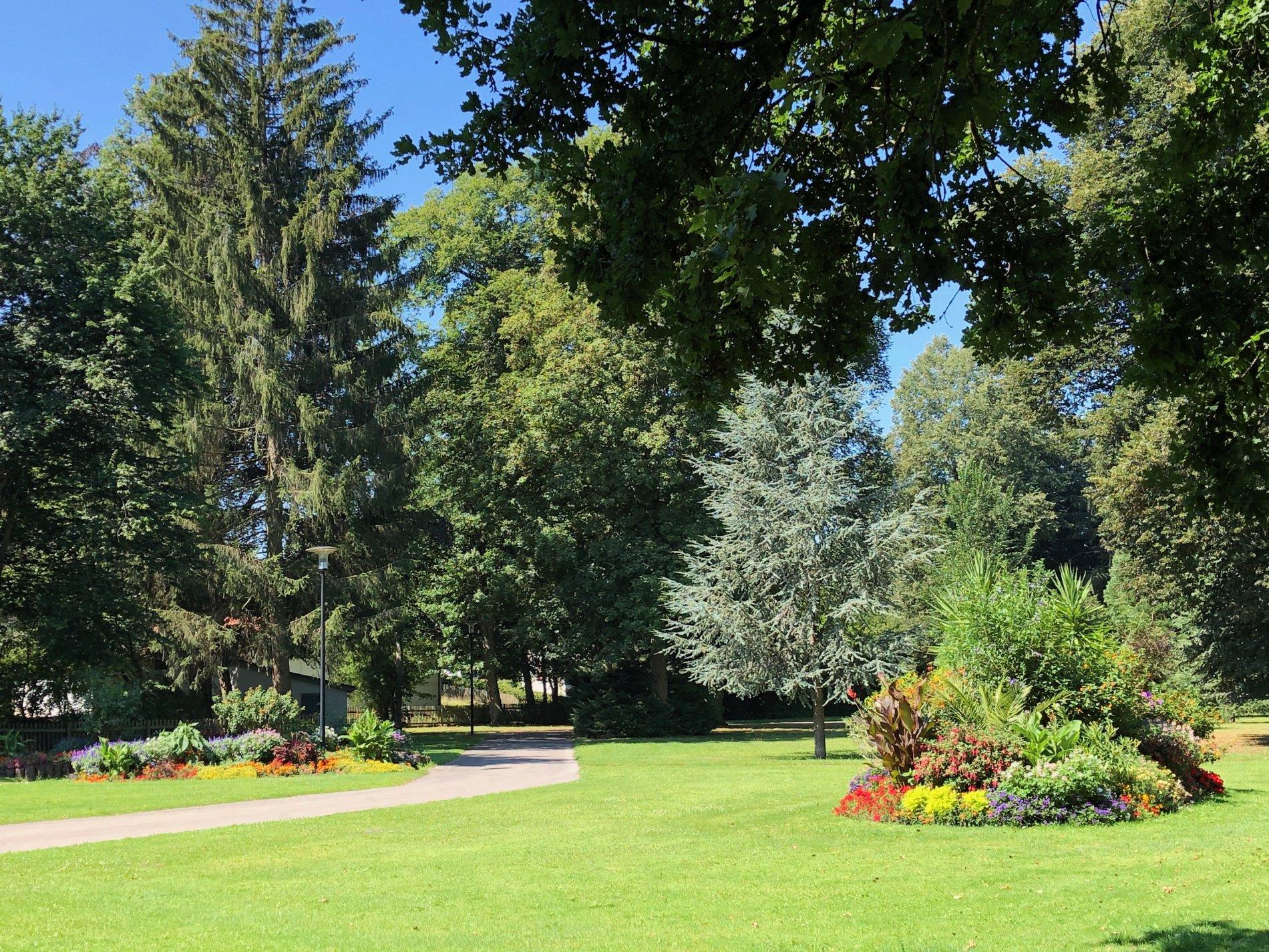 Wunderschöne Bepflanzung im Stadtgarten