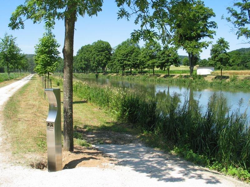 Hörpunkt am Ludwig-Donau-Main-Kanal in Altessing