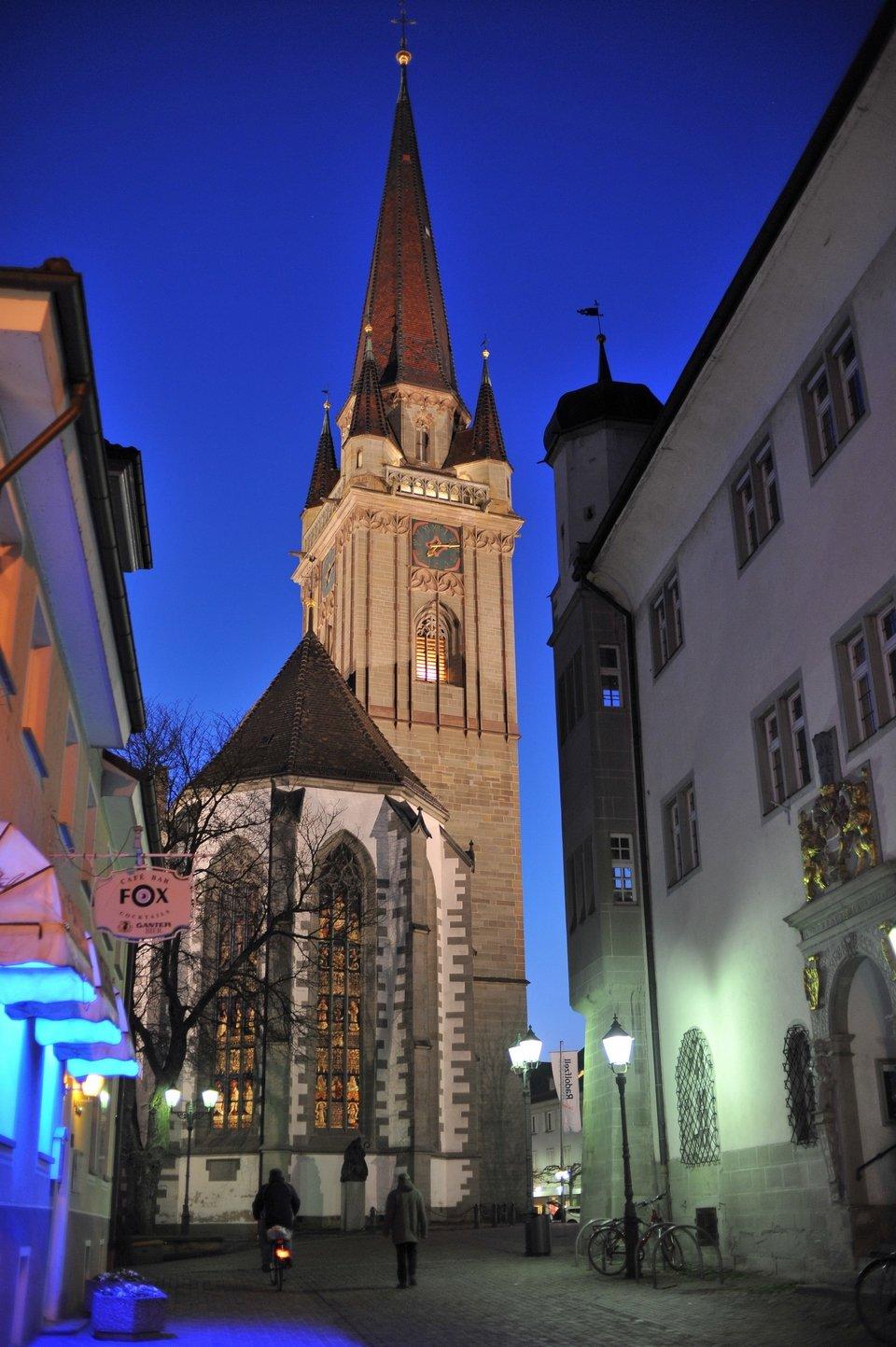 Blick auf das Radolfzeller Münster und das Österreichische Schlösschen