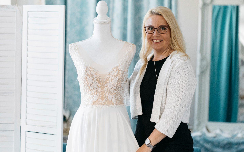 Lamoure Brautmode Solothurn Boutique innen