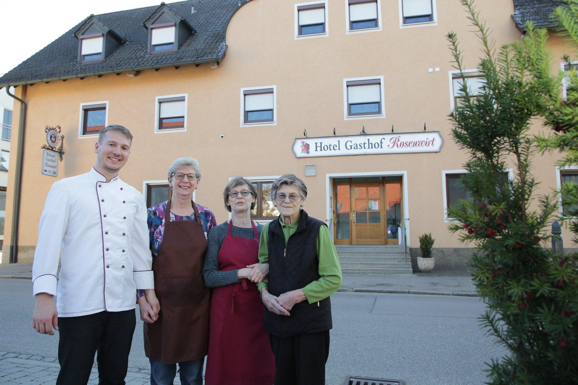Außenansicht Hotel Gasthof Rosenwirt in Au