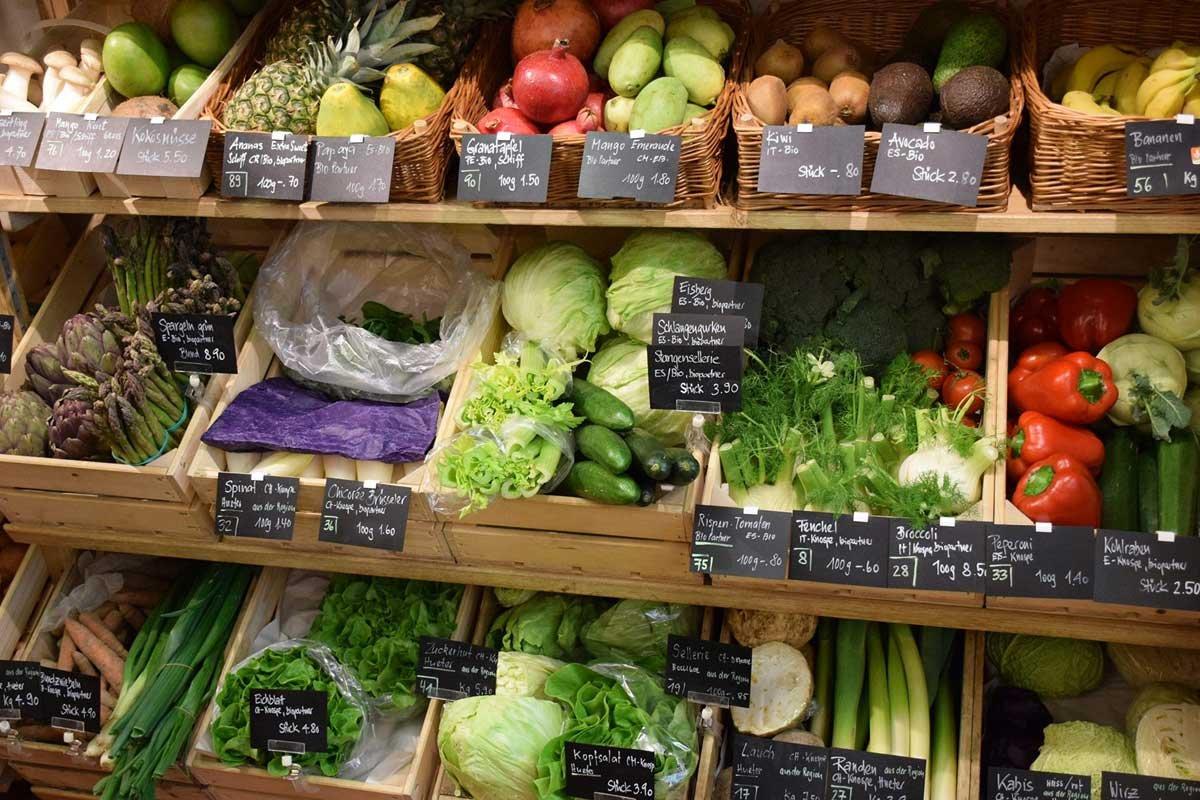 Bioladen Gänterli Solothurn Früchte und Gemüse