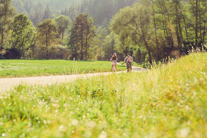 Etappe 1 - Radfahrer auf dem Kocher-Jagst-Radweg   HeilbronnerLand