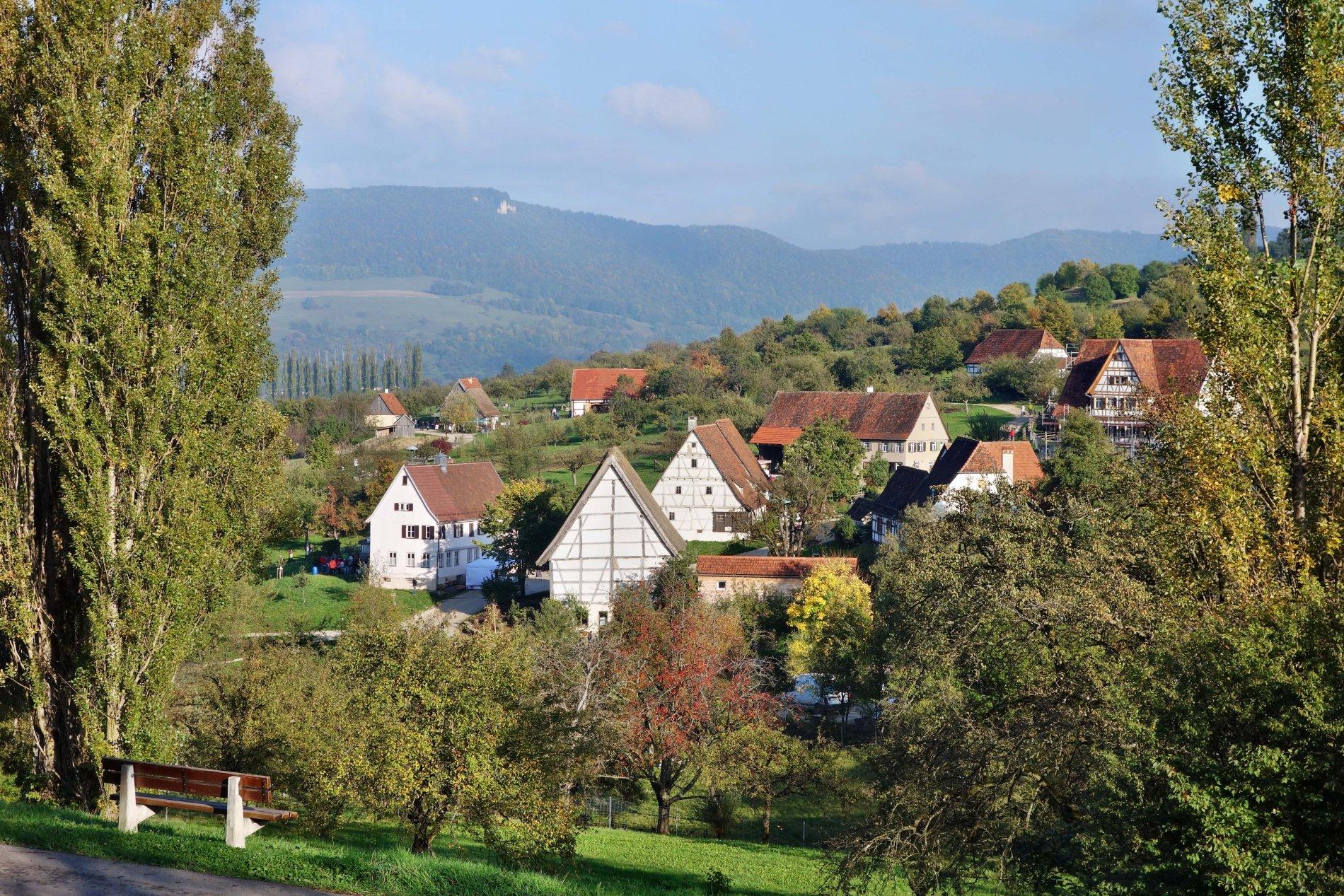 Das Freilichtmuseum Beuren am Fuße der Schwäbischen Alb